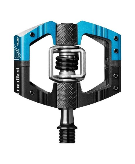 Pedale Crankbrothers Mallet E LS Black/Blue Body/Long Spindles