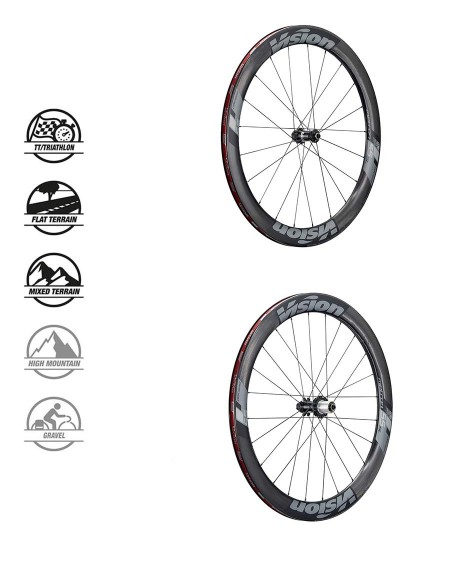 RUOTE VISION METRON 55 SL DB-CL DISC TUBELESS READY