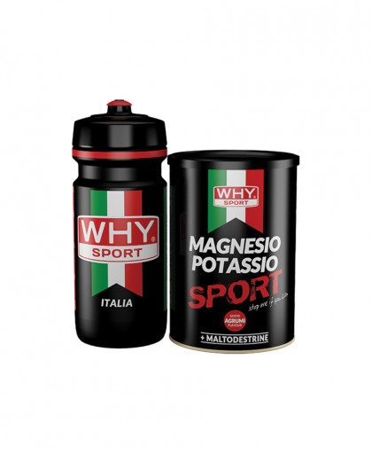 MAGNESIO POTASSIO WHY SPORT 400 GR+ 1 BORRACCIA